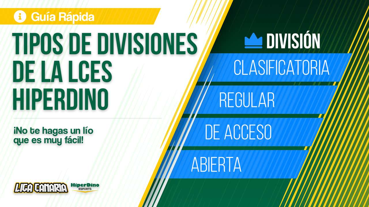 Tipos de divisiones de la LCES HiperDino